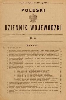 Poleski Dziennik Wojewódzki. 1931, nr4