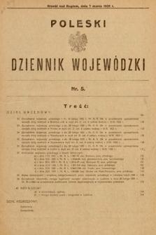 Poleski Dziennik Wojewódzki. 1931, nr5