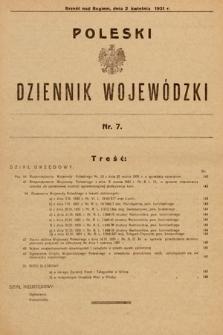 Poleski Dziennik Wojewódzki. 1931, nr7