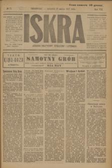 Iskra : dziennik polityczny, społeczny i literacki. R.8, № 72 (29 marca 1917)