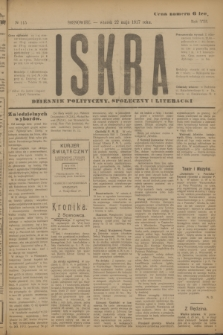 Iskra : dziennik polityczny, społeczny i literacki. R.8, № 115 (22 maja 1917)