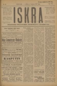 Iskra : dziennik polityczny, społeczny i literacki. R.8, № 130 (10 czerwca 1917)