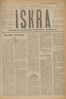 Iskra : dziennik polityczny, społeczny i literacki. R.8, № 171 (29 lipca 1917)