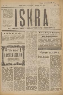Iskra : dziennik polityczny, społeczny i literacki. R.8, № 174 (2 sierpnia 1917)