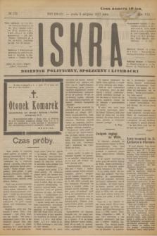 Iskra : dziennik polityczny, społeczny i literacki. R.8, № 179 (8 sierpnia 1917)
