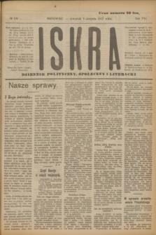 Iskra : dziennik polityczny, społeczny i literacki. R.8, № 180 (9 sierpnia 1917)