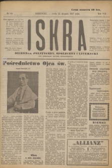 Iskra : dziennik polityczny, społeczny i literacki. R.8, № 190 (22 sierpnia 1917)