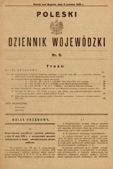 Poleski Dziennik Wojewódzki. 1931, nr9