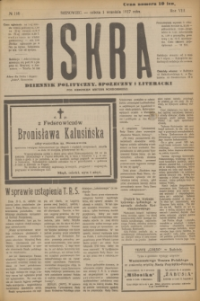 Iskra : dziennik polityczny, społeczny i literacki. R.8, № 199 (1 września 1917)