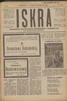 Iskra : dziennik polityczny, społeczny i literacki. R.8, № 203 (6 września 1917)