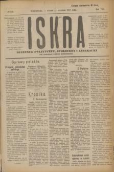 Iskra : dziennik polityczny, społeczny i literacki. R.8, № 206 (11 września 1917)
