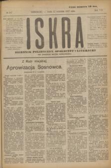 Iskra : dziennik polityczny, społeczny i literacki. R.8, № 207 (12 września 1917)