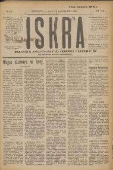 Iskra : dziennik polityczny, społeczny i literacki. R.8, № 209 (14 września 1917)