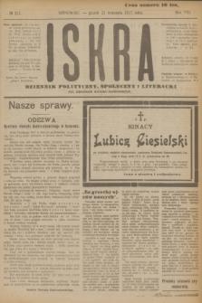 Iskra : dziennik polityczny, społeczny i literacki. R.8, № 215 (21 września 1917)