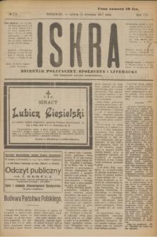 Iskra : dziennik polityczny, społeczny i literacki. R.8, № 216 (22 września 1917)