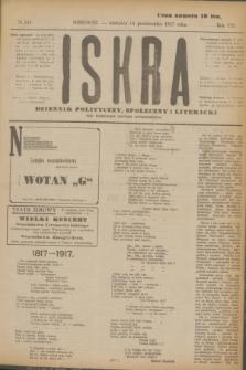 Iskra : dziennik polityczny, społeczny i literacki. R.8, № 234 (14 października 1917)