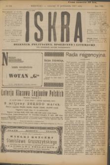 Iskra : dziennik polityczny, społeczny i literacki. R.8, № 236 (18 października 1917)