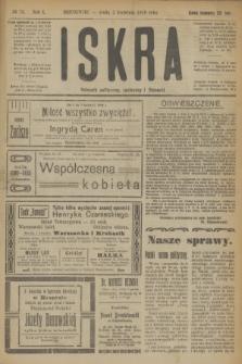 Iskra : dziennik polityczny, społeczny i literacki. R.10, № 75 (2 kwietnia 1919)
