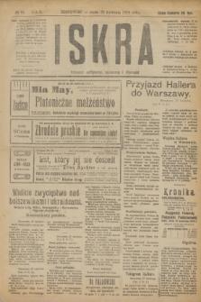 Iskra : dziennik polityczny, społeczny i literacki. R.10, № 91 (23 kwietnia 1919)