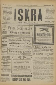 Iskra : dziennik polityczny, społeczny i literacki. R.10, № 98 (1 maja 1919)