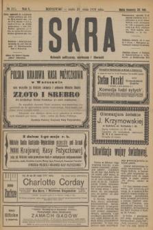 Iskra : dziennik polityczny, społeczny i literacki. R.10, № 111 (21 maja 1919)