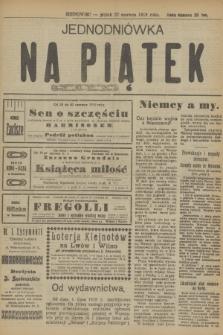 Jednodniówka na Piątek R.10, (27 czerwca 1919)
