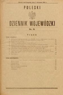 Poleski Dziennik Wojewódzki. 1931, nr11