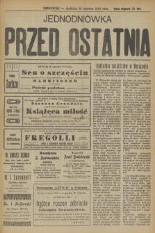 Jednodniówka Przed Ostatnia. R.10, (29 czerwca 1919)