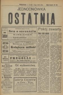 Jednodniówka Ostatnia. R.10, (1 lipca 1919)
