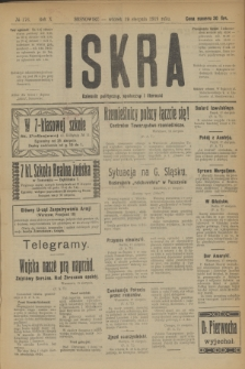 Iskra : dziennik polityczny, społeczny i literacki. R.10, № 176 (19 sierpnia 1919)
