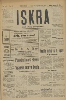 Iskra : dziennik polityczny, społeczny i literacki. R.10, № 187 (30 sierpnia 1919)