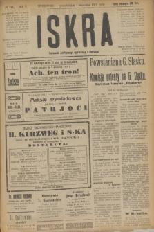 Iskra : dziennik polityczny, społeczny i literacki. R.10, № 189 (1 września 1919)