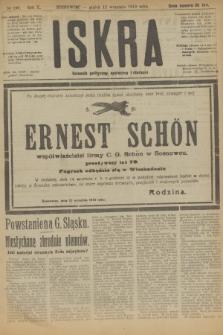 Iskra : dziennik polityczny, społeczny i literacki. R.10, № 199 (12 września 1919)