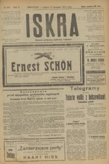 Iskra : dziennik polityczny, społeczny i literacki. R.10, № 200 (13 września 1919)
