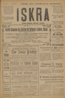 Iskra : dziennik polityczny, społeczny i literacki. R.10, № 245 (31 października 1919)
