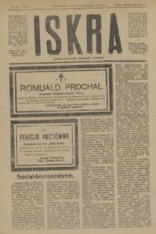 Iskra : dziennik polityczny, społeczny i literacki. R.10, № 262 (22 listopada 1919)
