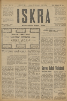 Iskra : dziennik polityczny, społeczny i literacki. R.10, № 265 (25 listopada 1919)