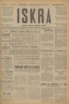 Iskra : dziennik polityczny, społeczny i literacki. R.10, № 274 (6 grudnia 1919)