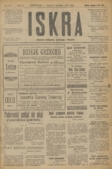 Iskra : dziennik polityczny, społeczny i literacki. R.10, № 276 (9 grudnia 1919)