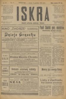 Iskra : dziennik polityczny, społeczny i literacki. R.10, № 280 (13 grudnia 1919)