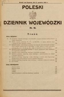 Poleski Dziennik Wojewódzki. 1931, nr16