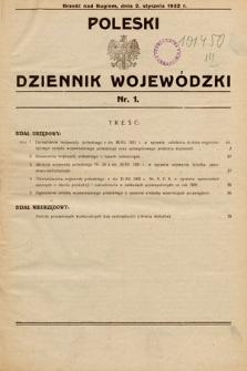 Poleski Dziennik Wojewódzki. 1932, nr1