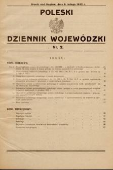 Poleski Dziennik Wojewódzki. 1932, nr2