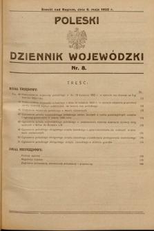 Poleski Dziennik Wojewódzki. 1932, nr8