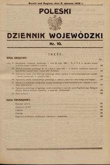 Poleski Dziennik Wojewódzki. 1932, nr10