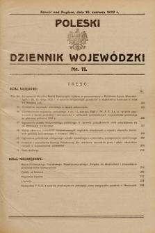 Poleski Dziennik Wojewódzki. 1932, nr11
