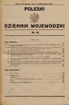 Poleski Dziennik Wojewódzki. 1932, nr16