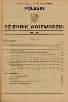 Poleski Dziennik Wojewódzki. 1932, nr20