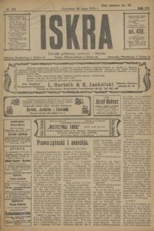 Iskra : dziennik polityczny, społeczny i literacki. R.13, nr 159 (20 lipca 1922)
