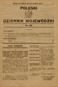 Poleski Dziennik Wojewódzki. 1932, nr23